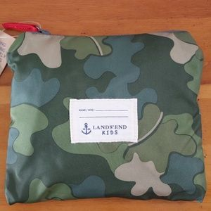 Lands' End Kids Packable Drawstring Bag Camo